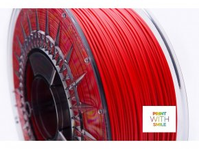 ASA filament cherry red 1,75 mm Print With Smile 0,85kgith Smile 0,85kg