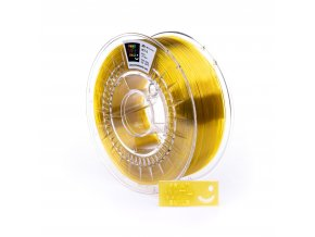 PET-G filament Yellow Glass TR 1,75 mm Print With Smile 1kg