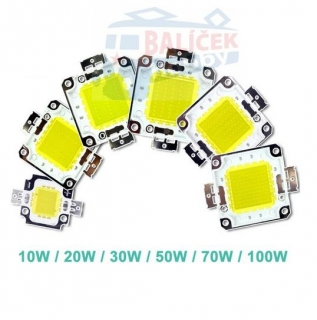 Led COB chip 100W - do halogenů
